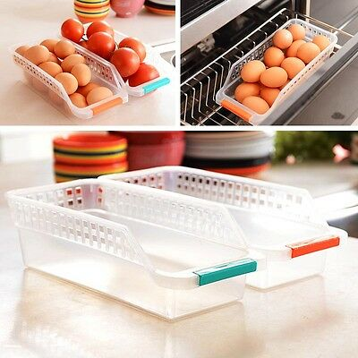 Collecting Storage Box Basket Kitchen Refrigerator Fruit Organiser Rack Holder