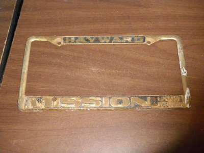 hayward california mission license plate frame lincoln mercury holder tag metal