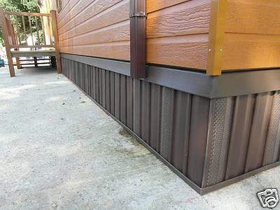 "Static Caravan Skirting Kit New Chocolate Colour (Up to 38' X 12"")"