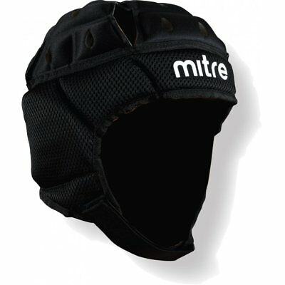 Mitre Maxi Cool Rugby Head Guard Black Size Small Medium Large IRB Approved NEW