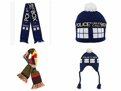 Doctor Who Tardis warm Dr Who colored scarves & hats NEW!