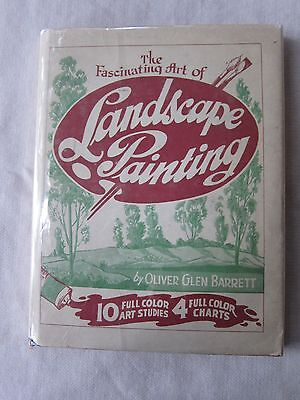 Old Book Fascinating Art of Landscape Painting Oliver Barrett 1946 1st Ed DJ GC