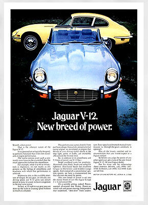 A3 - Wall POSTER Print Art - E-Type Jaguar V 12 Retro Vintage Car Advert - #1