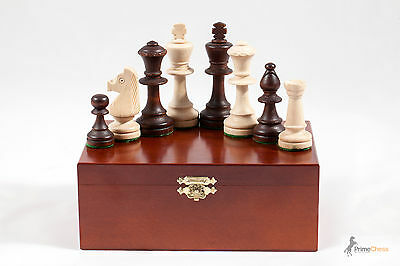 """Br3.5"""" STAUNTON No.5 WEIGHTED PROFESSIONAL CHESS PIECES IN WOODEN CRAFTED BOX!!"""
