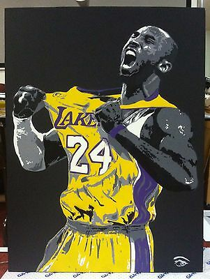 KOBE BRYANT Art Painting Canvas Size 24x36 GREAT ITEM TO DISPLAY ON YOUR WALL