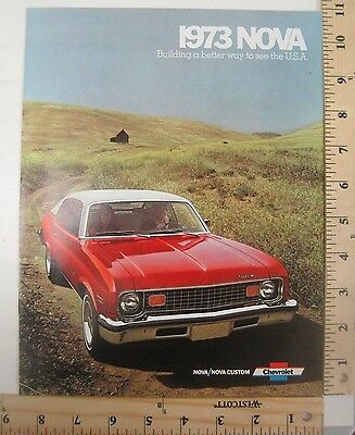 1973 Chevrolet Nova Car Brochure Catalog Booklet New Old Stock