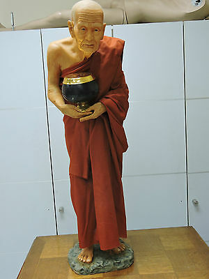Thai Buddhist Monk Luang Phor Thuad -  Nature Human Skin - Thailand Resin Statue