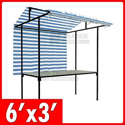 Tansley Market Stall Traditional Steel Frame 1.8m x 0.9m Market Trade Stand