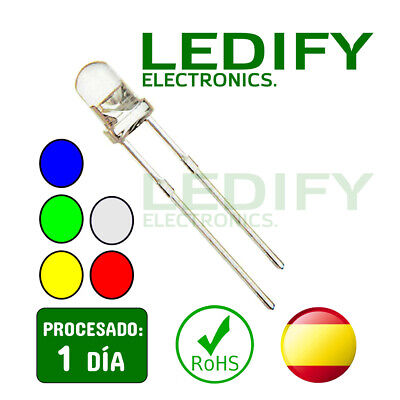 x50 Diodos Led 5mm - 5 Colores Alta Calidad SUPER BRILLO - Arduino