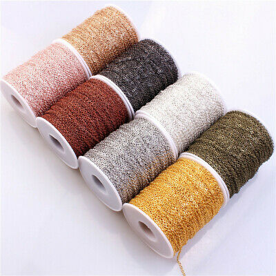 100M Cable Open Link Iron Metal Chain For Jewelry Making DIY 3x4mm 6 Colors Lot