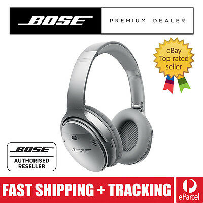 BOSE QC35 QuietComfort 35 SILVER Noise Cancelling Wireless Headphones IN STOCK