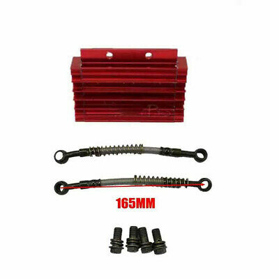 Red CNC Engine Oil Cooler w' Brake Line 138cc 140 150 cc ATV PIT DIRT QUAD BIKE