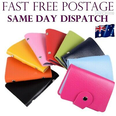 NEW Leather Business ID Credit Card Holder Handbag Purse Storage Case Pocket AU