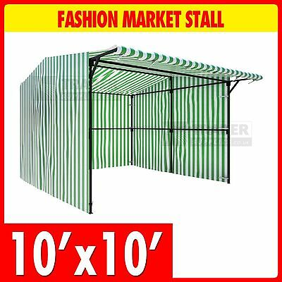 Walk In Fashion Market Stall 3.0m x 3.0m Outdoor Market Trade Stand Full Kit