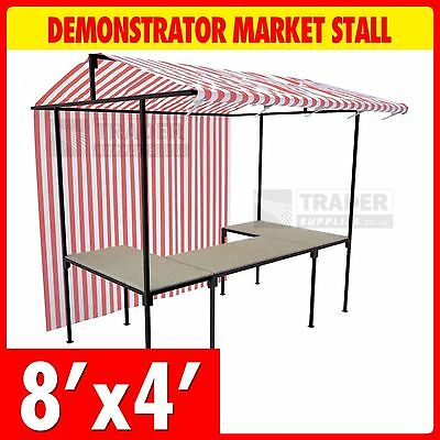 Demonstrator Market Stall Kit 2.4m x 1.2m Outdoor Market Trade Stand Heavy Duty