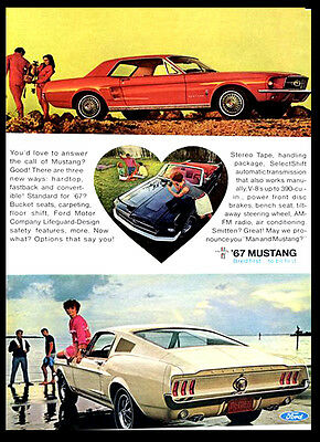 A3 - Wall POSTER Print Art Vintage Retro - Ford Mustang 1960s Car Advert #1
