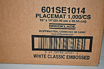 1-Box of 1000 / Hoffmaster #601SE1014 White Classic Embossed Placemats (#S5478)
