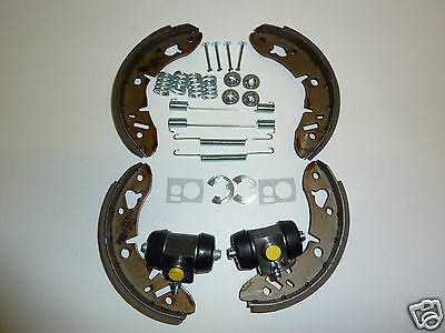 Classic Mini  Rear Brake Shoes Steel, Cylinders, Fitting Kit. 1969-2001 ABS9187
