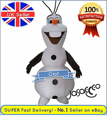 Olaf Mascot Costume - Frozen ✔ Complete Adult Outfit  ✔ All Sizes - UK