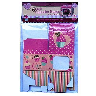 SINGLE CUPCAKE BOXES -Pack of 6 Inserts Included Muffin Luxury Gift Box QC1143