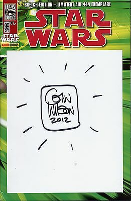 STAR WARS # 99 SKETCH-BLANK-VARIANT (deutsch) lim.444 Ex.+signed+ COMIC ACTION
