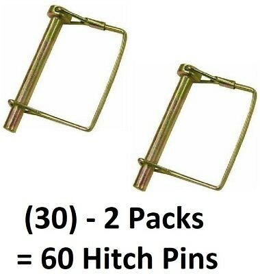"81987  5//16/"" x 2-1//4/"" Round Hitch Pins w Coil Tension 100 ea Double HH Mfg"