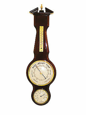 NEW Wooden Weather Station, BAROMETER, THERMOMETER & HYGROMETER 98437 1.5k