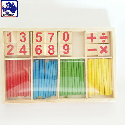 Children Wooden Numbers Mathematics Learning Counting Educational Toy GBDOM 5510