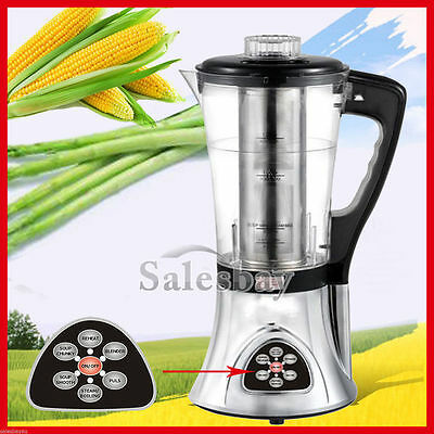 1.8L Digital Soup Blender Maker Hot/Cold Agitator Juicer Mixer Silver Chef