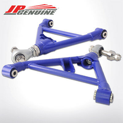 Blue Adjustable Suspension Rear Lower Control Arm Fit 240Sx S13 / S14 89-98