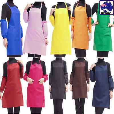 Women Home Apron Bib Kitchen Cooking Antifouling Sleeveless Colorful HKIAP 75