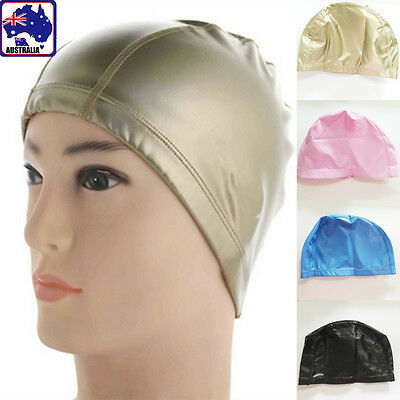 PU Swimming Cap Hat Waterproof High Elastic Ear Hair Protection Stretch OSCAP 30