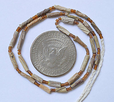 Ancient Roman Glass Beads 1 Strand Twist 100-200 Bc 0413