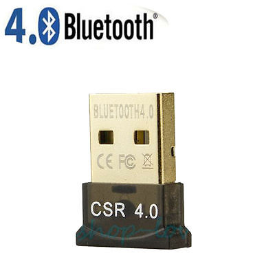 Mini Clé USB 2.0 Bluetooth V4.0 Dongle Sans fil Wireless Adaptateur Adapter PC