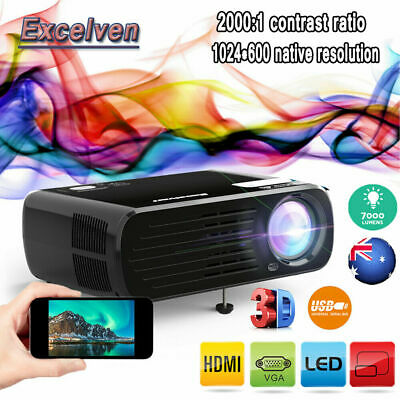 """Potable Home Theater LED Projector 5.8"""" TFT LCD FHD 1280*800 1080P ATV with HDMI"""