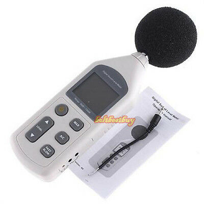 LCD Digital Sound Level Meter Pressure Tester 30-130dB Decibel Noise Measurement
