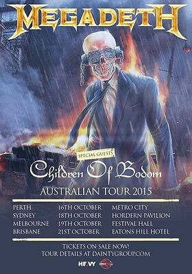 MEGADETH Dystopia 2015 Australian Tour PHOTO Print POSTER Children OF Bodom 014