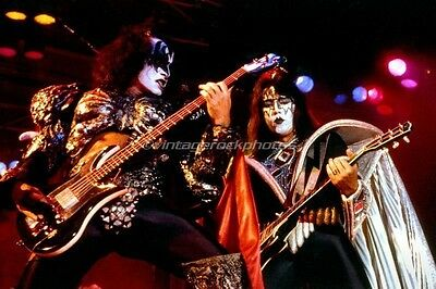 KISS Photo Ace Frehley Gene Simmons 8x12 or 8x10 in Print Live '70s Concert 20