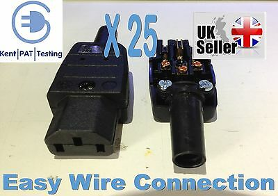 25 X FEMALE IEC Connector Easy Wire Professional C13 Kaiser