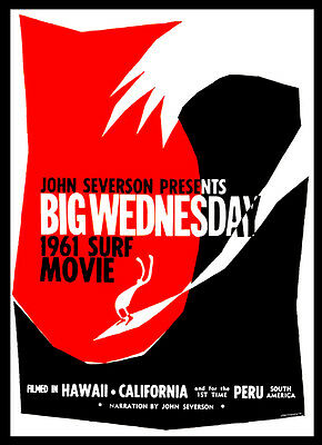 A3 - Big Wednesday Classic Surfing Movie Film Cinema wall Home Posters Art #10