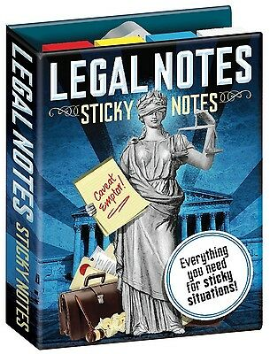 Sticky Notes  LEGAL NOTES Lawyer Attorney post-its Fun Office NOTE SET