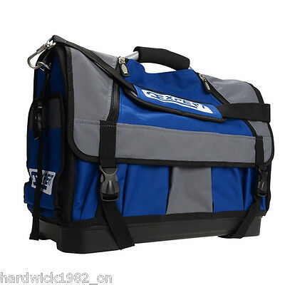 Britool Expert Pro Soft Tote Toolbag With Holders  Waterproof Base  Blue Grey