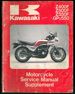 Service Manual supplement KAWASAKI Z 400 F 500 550 ZR GPZ 1983/84 Manuel Atelier