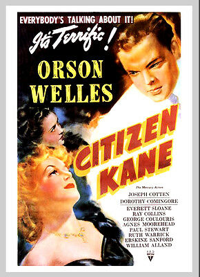 A3 - Citizen Kane Orson Welles Movie Film Cinema wall Home Posters Art #10