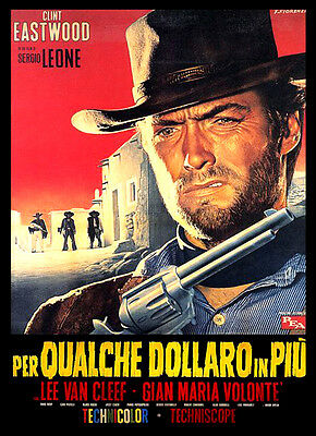 A3 - Clint Eastwood For a Few Dollars More Vintage Movie Home Posters Art #10