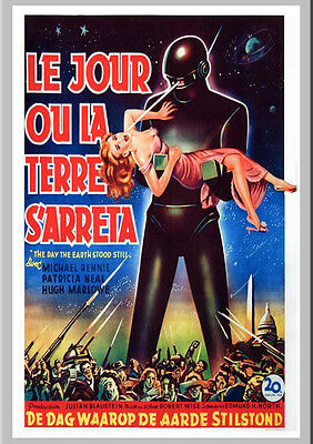 A3 - Day The Earth Stood Still Sci Fi Movie Cinema wall Home Posters Art #10