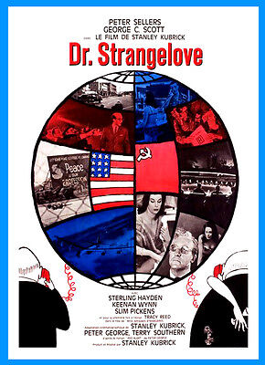 A3 - Dr Strangelove Movie 1960s Cinema Film wall Home Posters Retro Art #10