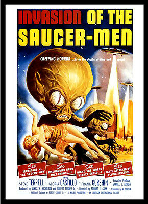 A3 - Invasion of The Saucer Men Vintage Movie wall Home Posters Retro Art #10