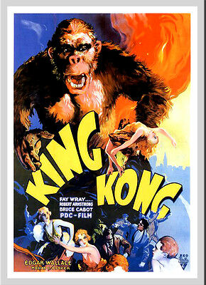 A3 - King Kong Movie Movie wall Home Posters Retro Art #10