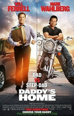 DADDY'S HOME MOVIE POSTER Original DS 27x40 WILL FERRELL MARK WAHLBERG